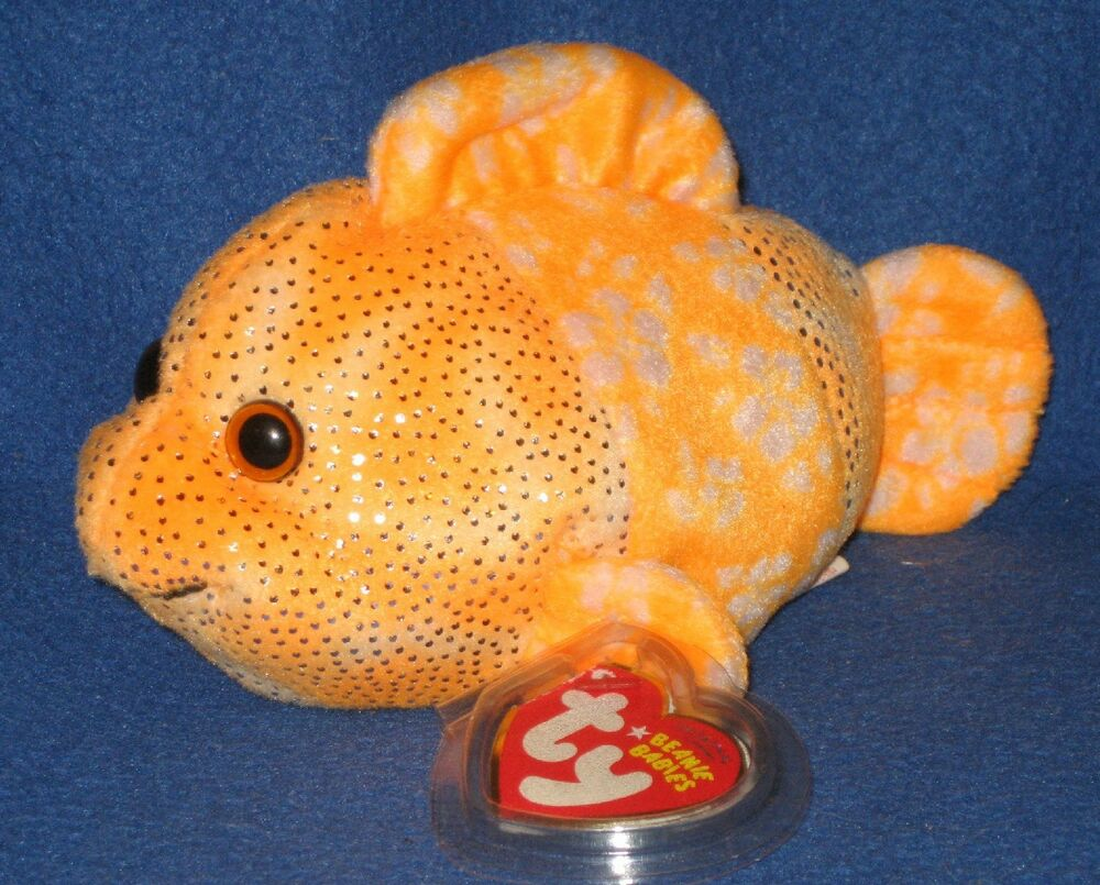 Ty reefs the clown fish beanie baby mint with mint tags for Fish beanie baby