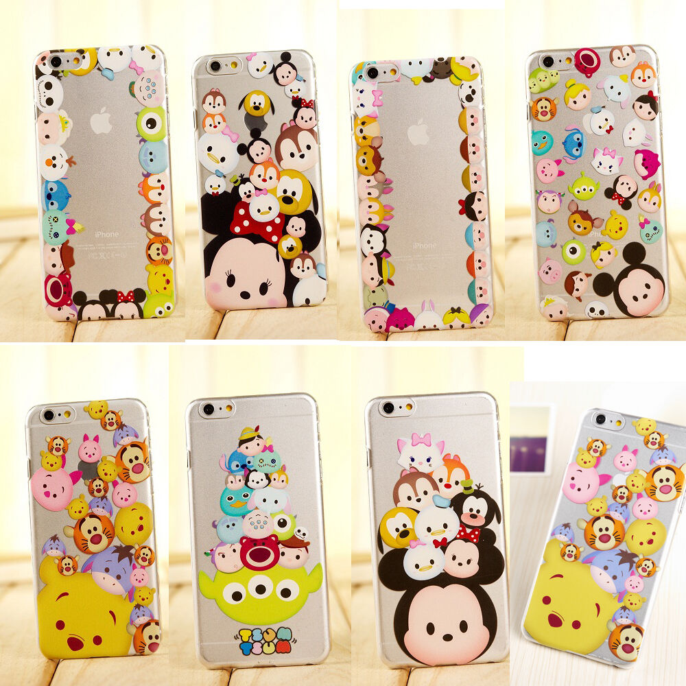 New Cute Cartoon Crystal Clear TPU Soft Case Cover for iPhone 5S 6S ...