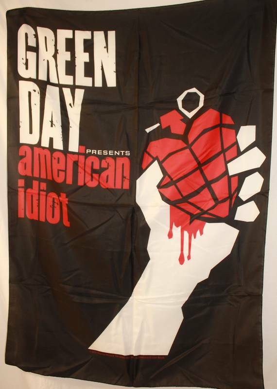 Fabric Wall Posters : Green day greenday american idiot cloth poster flag fabric
