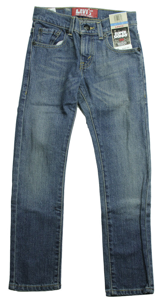 levi 39 s 510 youth boys super skinny regular denim jeans blue ebay. Black Bedroom Furniture Sets. Home Design Ideas