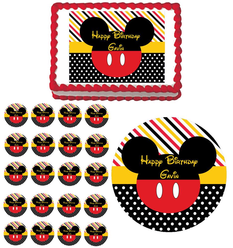 Mickey Mouse Inspired Edible Birthday Baby Shower Party