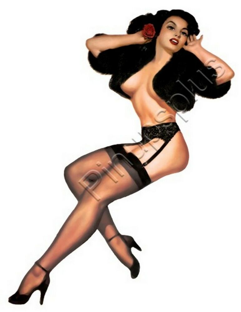vintage sexy pin up girl guitar waterslide decal for guitars much more s286 ebay. Black Bedroom Furniture Sets. Home Design Ideas