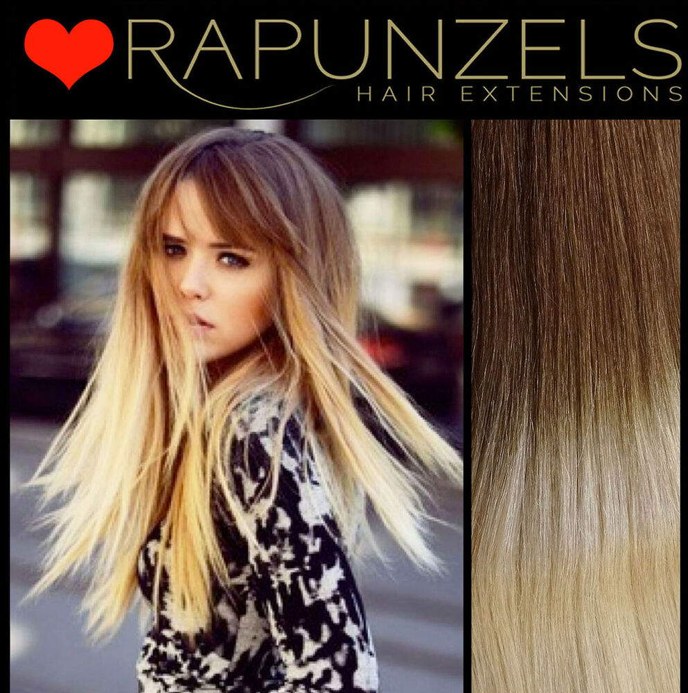 20 Dip Dye Ombre Hair Extensions Weaveweft Human Remy Half Head