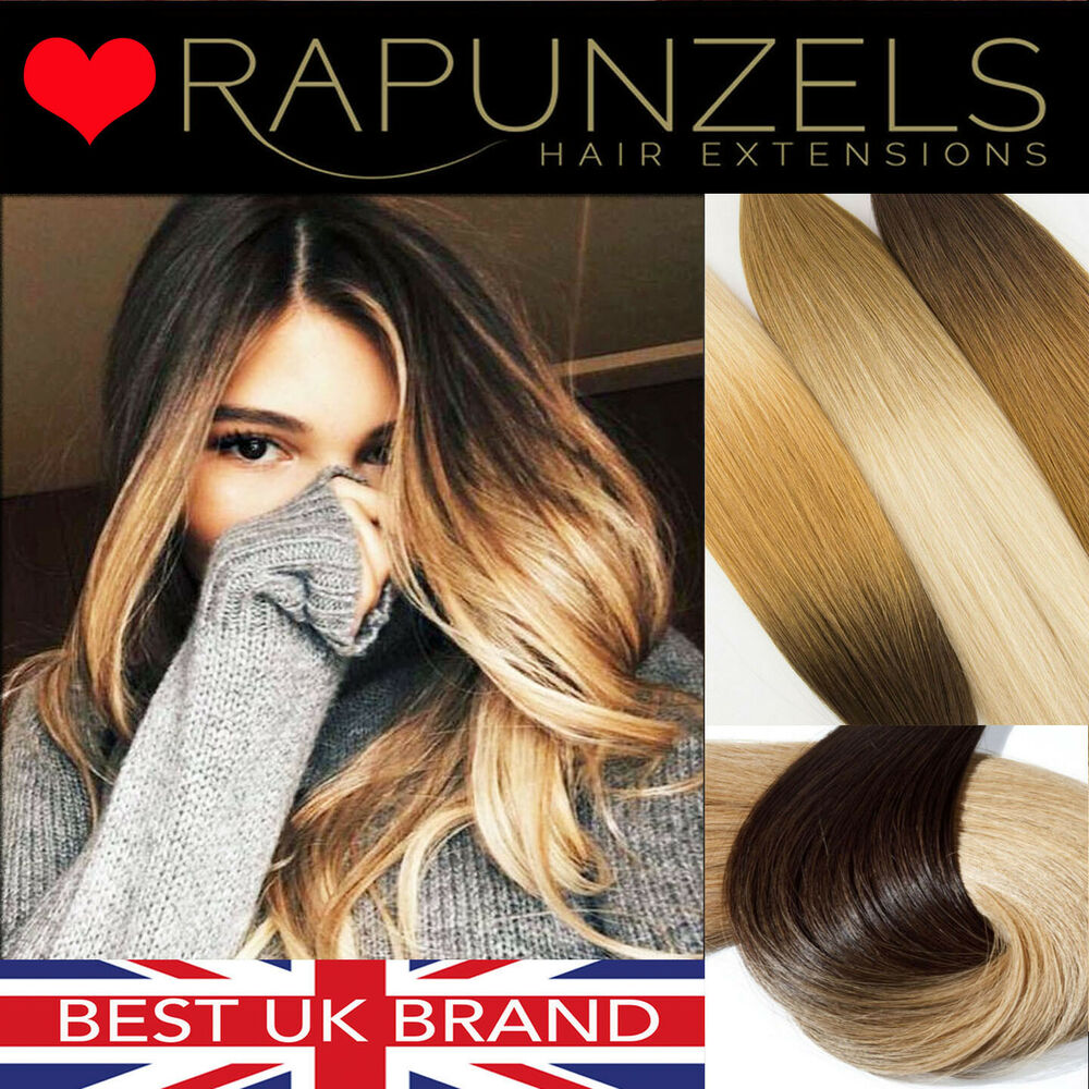 20 dip dye ombre clip in hair extensions diy weave remy human hair extensions ebay. Black Bedroom Furniture Sets. Home Design Ideas