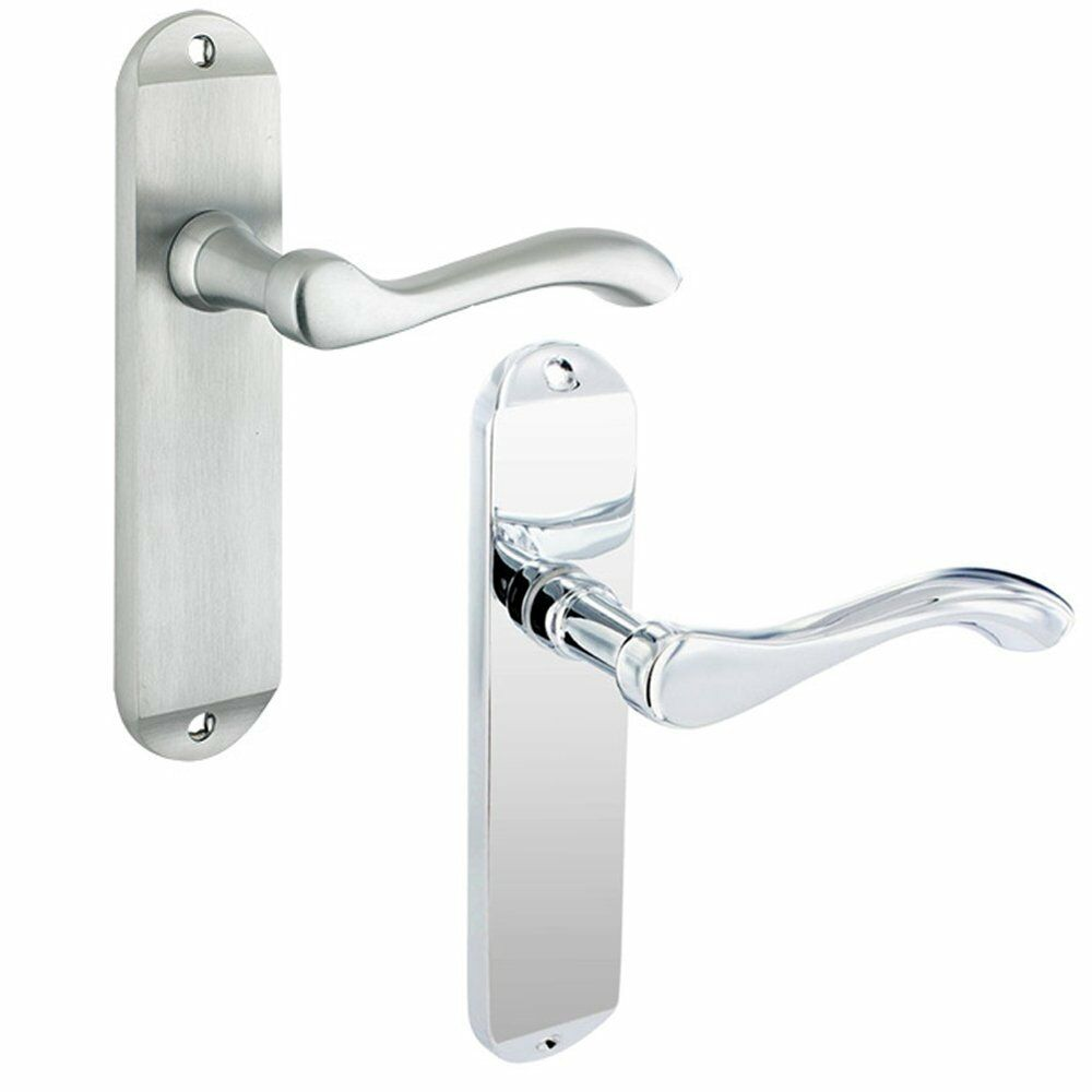 Lever Handle Lock : Chrome door handles project europa lever handle pair plate