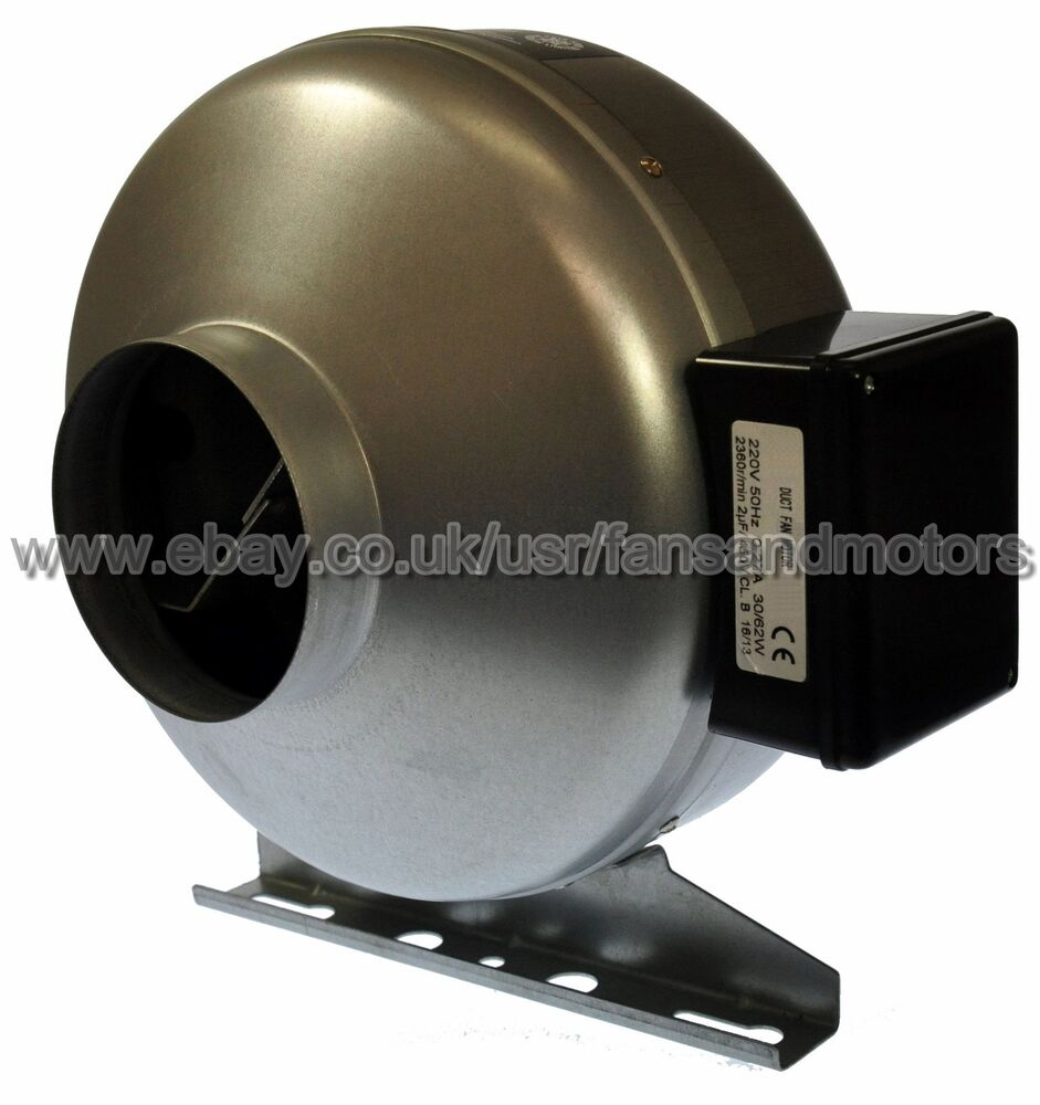 Inline Duct Fan 4 100mm Extract Fan Motor Hydroponics