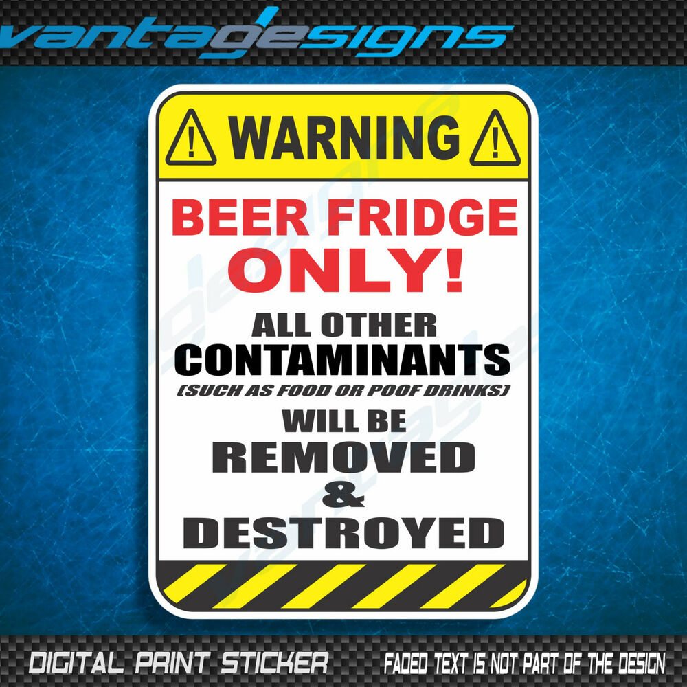 This is an image of Lucrative Funny Beer Warning Labels