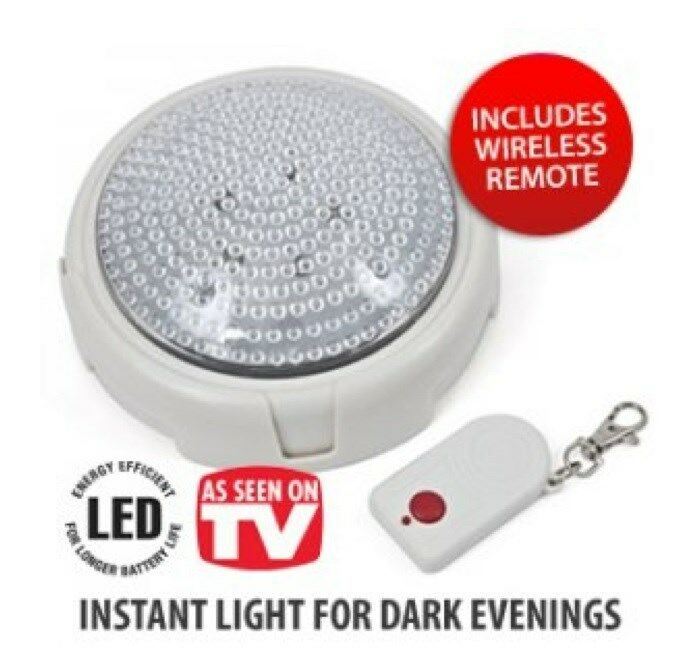 Battery operated night light with remote control remote brite light ebay - Remote control night light ...