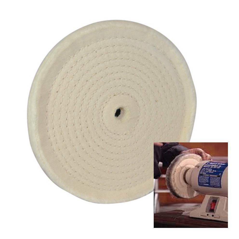 Spiral Stitched Cotton Buffing Polishing Wheel For 150 Mm
