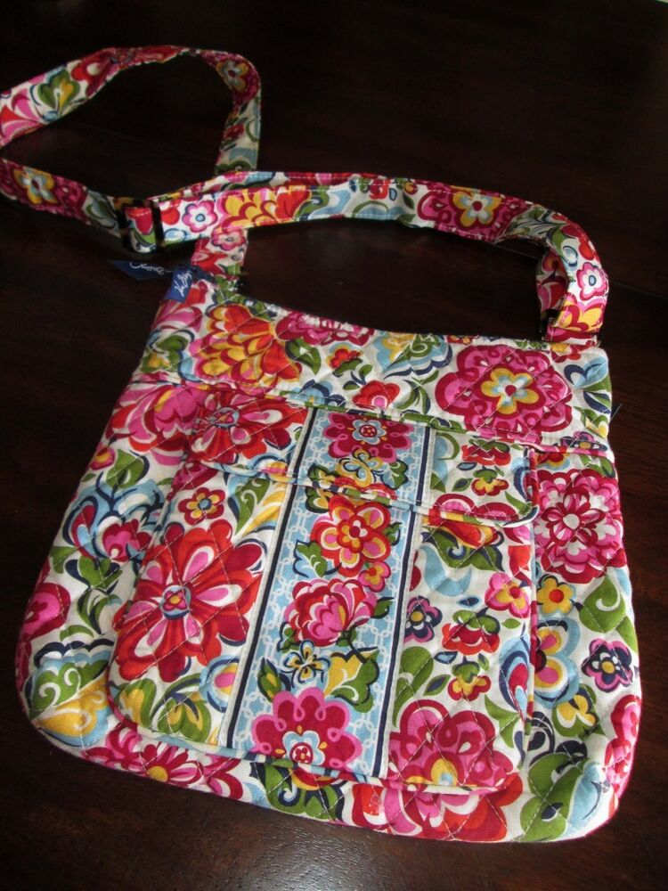 vera bradley hope garden hipster purse shoulder bag crossbody tortoise retired ebay