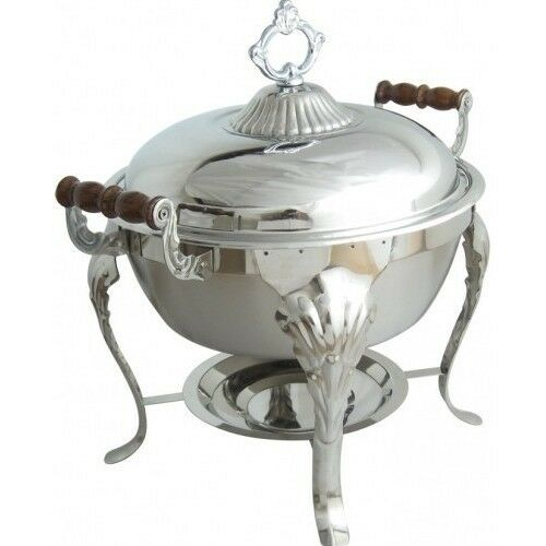 Food Warmers For Catering ~ Qt stainless round chafer chafing dish catering banquet