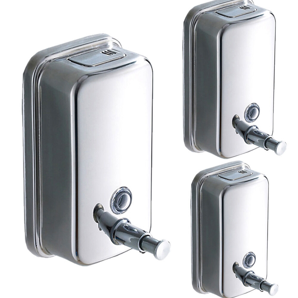 For bath stainless steel soap shampoo dispenser lotion - Wall mounted bathroom soap dispenser ...