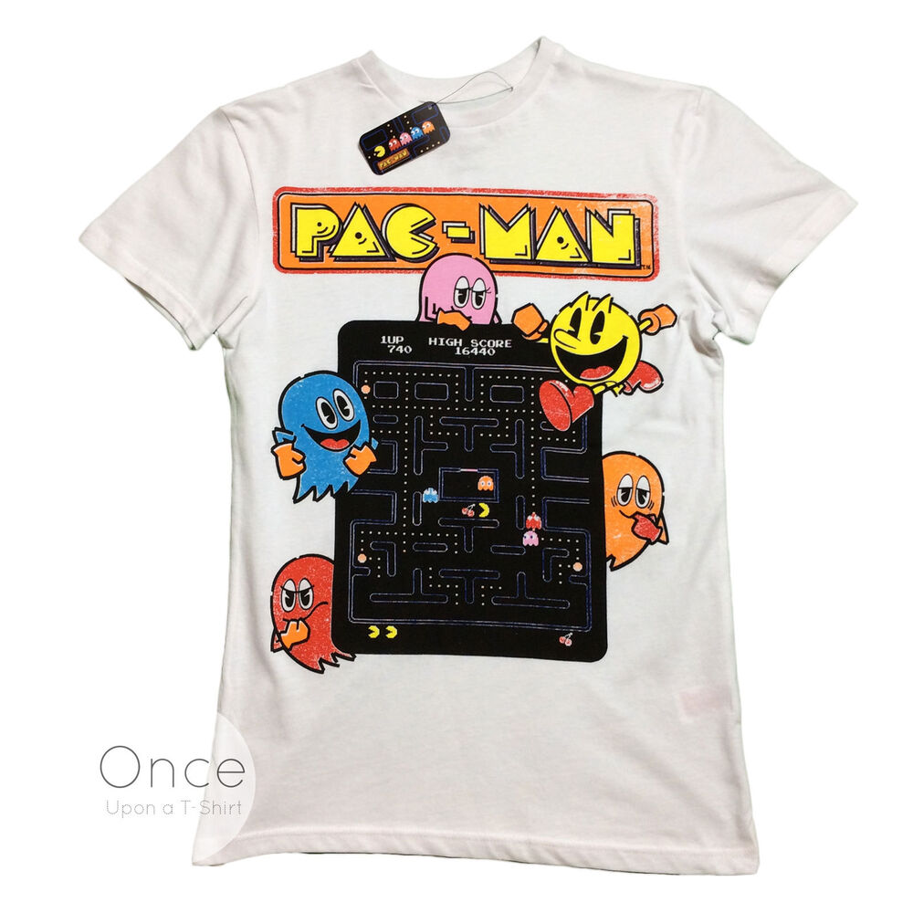Official Mens Pac Man Classic Video Game T Shirt From