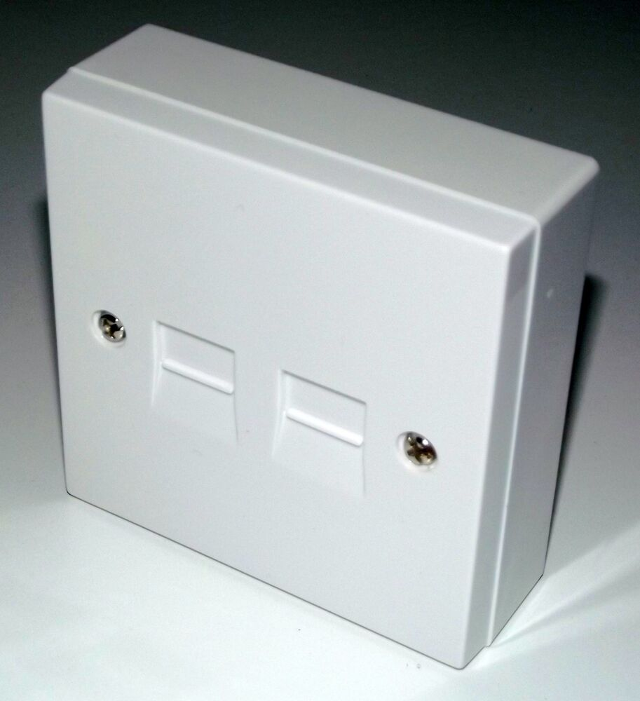 4  3a   Back Box Double Telephone Socket Extension