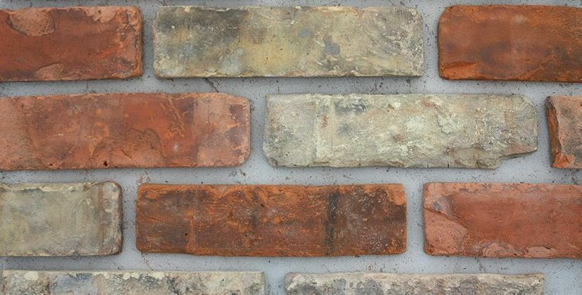 Reclaimed Brick Cladding Slips 11 Colours Exterior