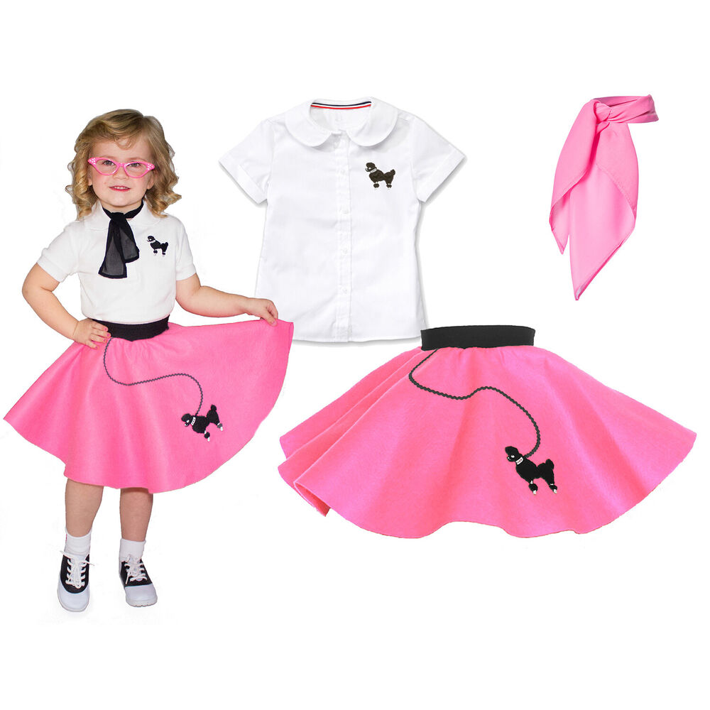 hip hop 50s shop 3 pc toddler poodle skirt outfit
