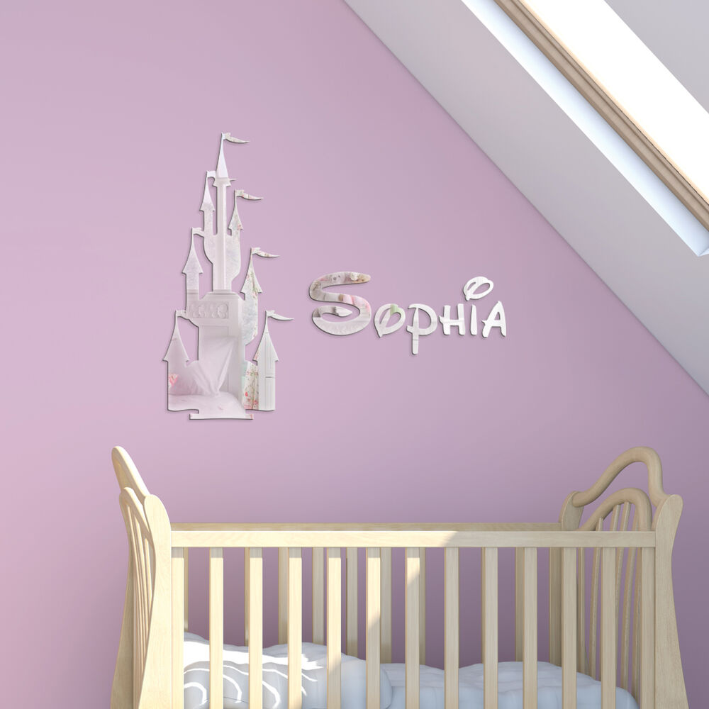 Acrylic Mirror Fairytale Castle Childrens Name Wall Plaque
