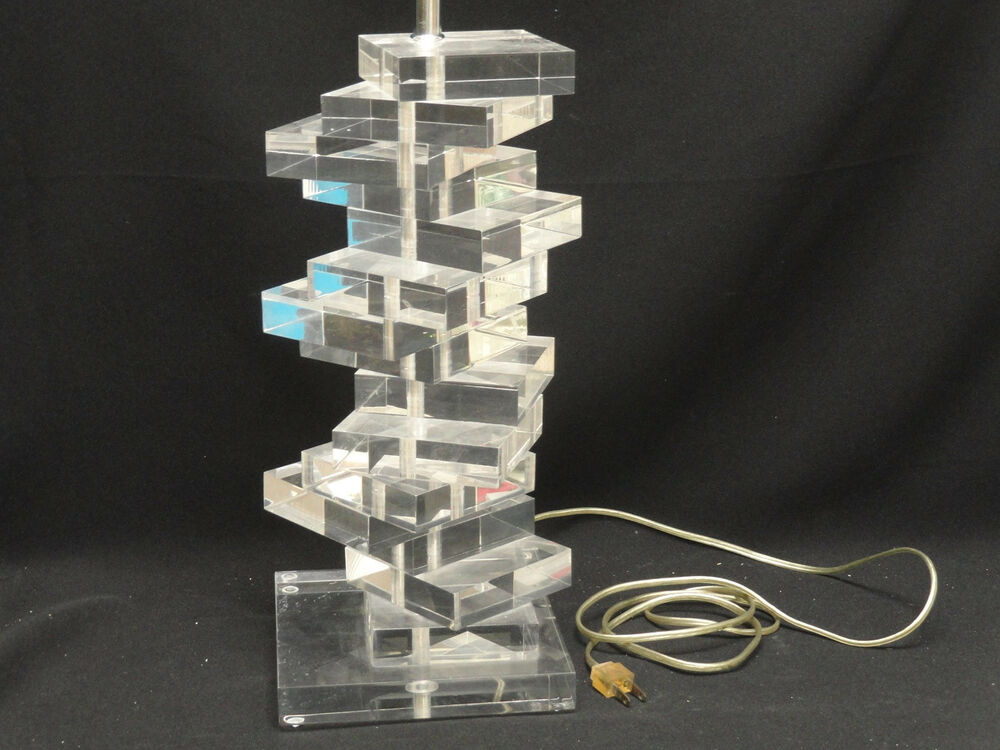 Fabulous Large Signed Marlu Modern 70s Space Age Stacked
