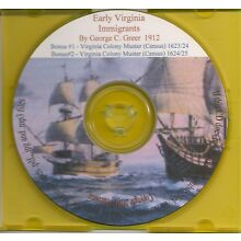 Early Virginia Immigrants 1626-1666 + Muster of 1624/5