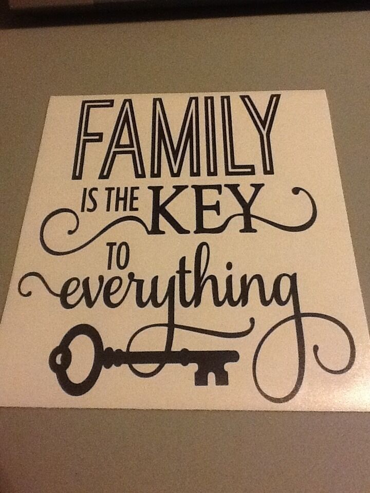 Family Is The Key To Everything Vinyl Wall Die Cut Decal ...