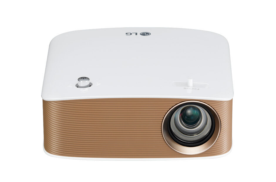 Lg ph250 hd mini beam tv projector 1280x720 300 ansi for Hd projector small
