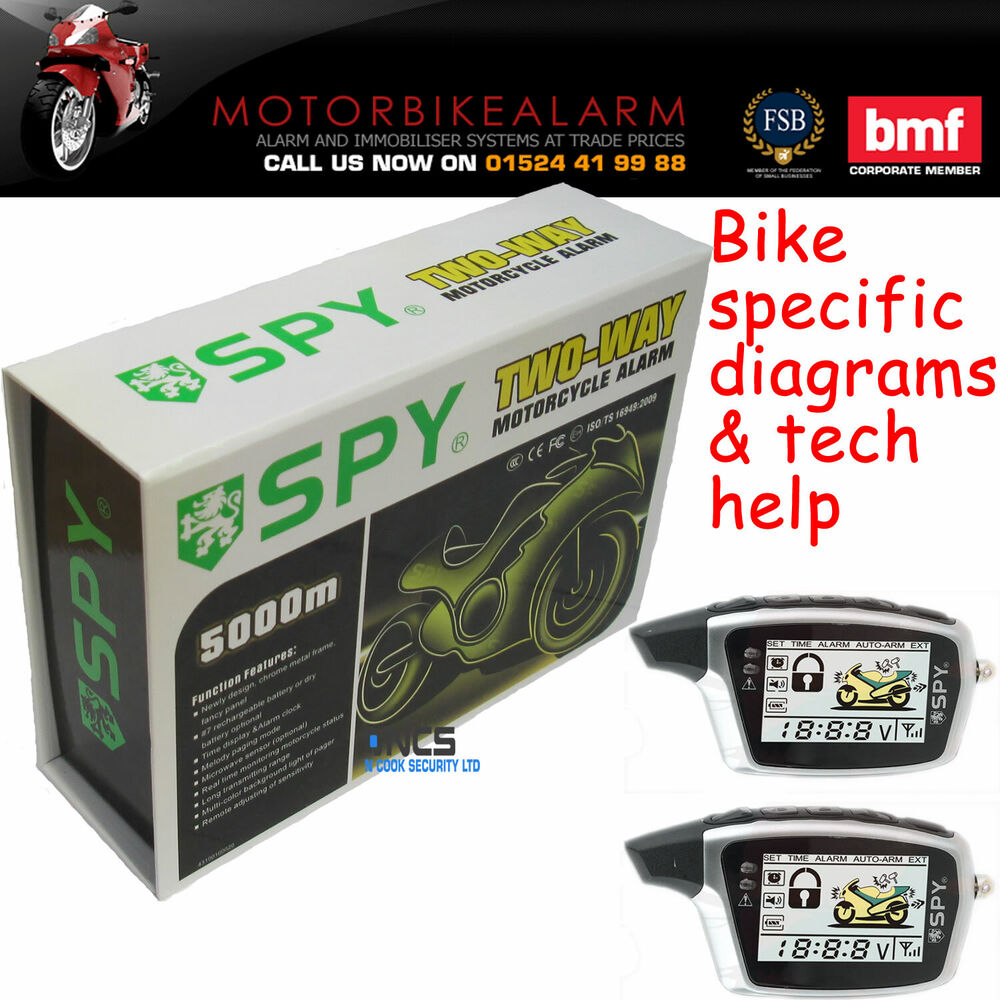 Spy 5000 Motorbike Motorcycle Alarm  U0026 Immobiliser 2 Way