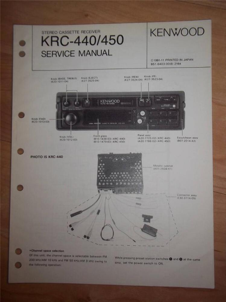 s l1000 kenwood service manual~krc 440 450 cassette receiver~car radio Kenwood Model KDC Install Wiring at reclaimingppi.co
