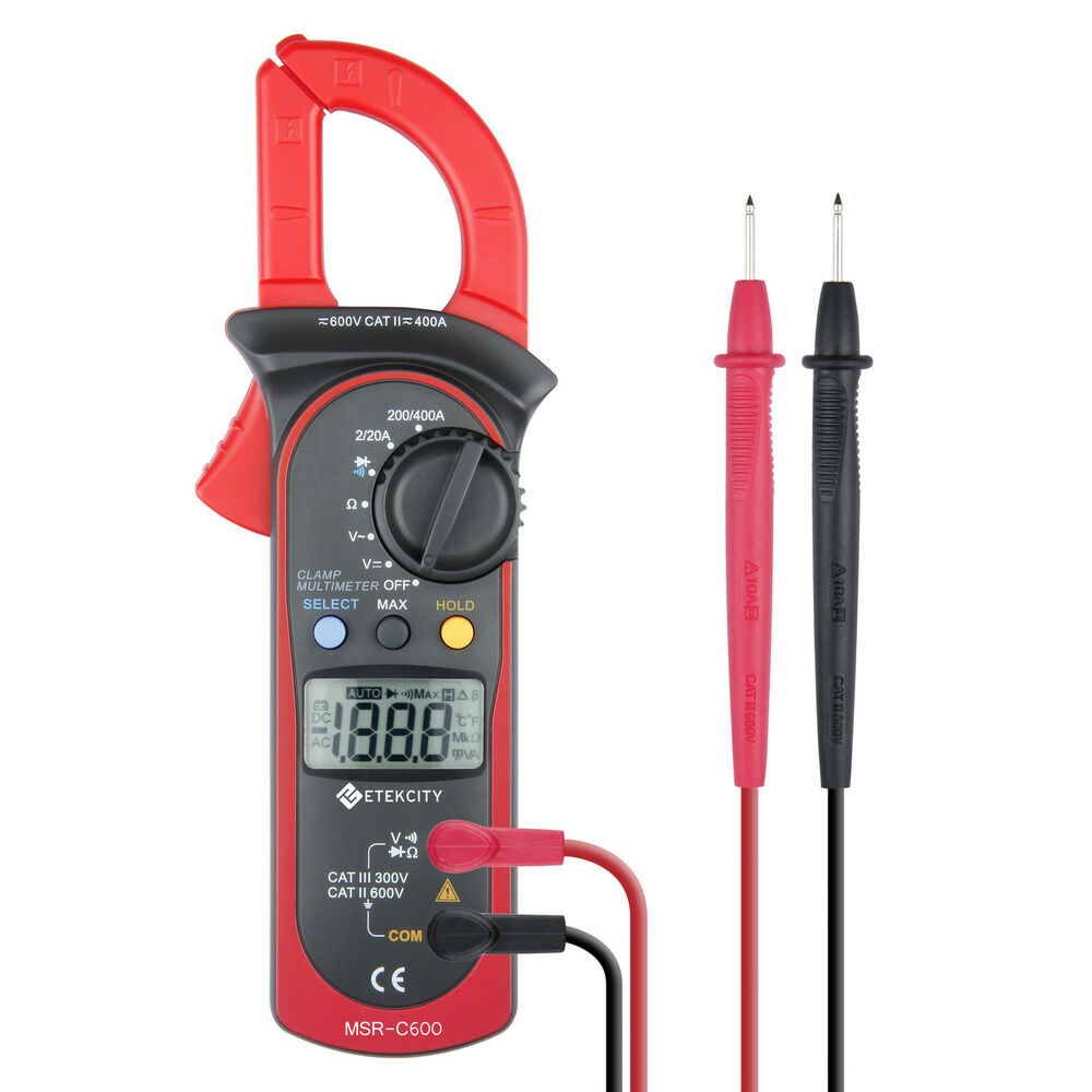 Ac Dc Clamp Meter : Etekcity msr c digital lcd clamp meter multimeter ac dc