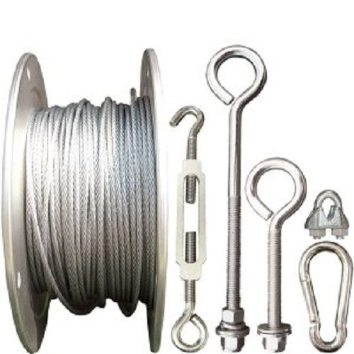Cable Installation Kit : Batting cage cable kit outdoor installation hardware ebay