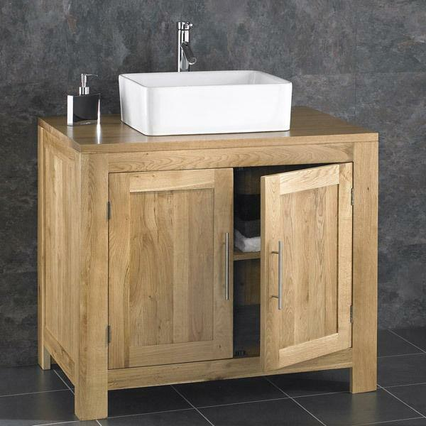 oak bathroom cabinet alta 90cm freestanding solid oak door cabinet sink 23812