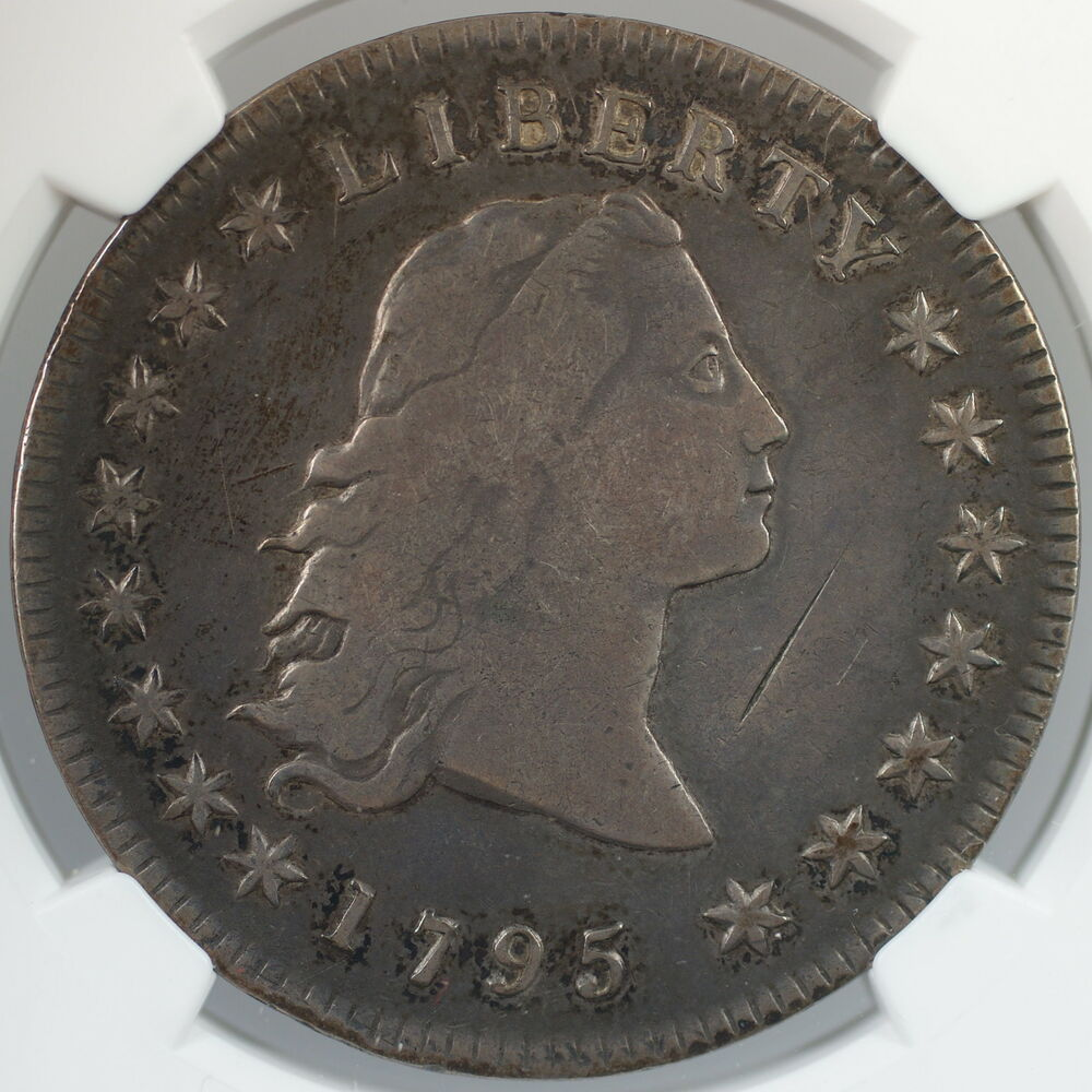 1795 Flowing Hair Silver Dollar Coin 1 Ngc Vf Details