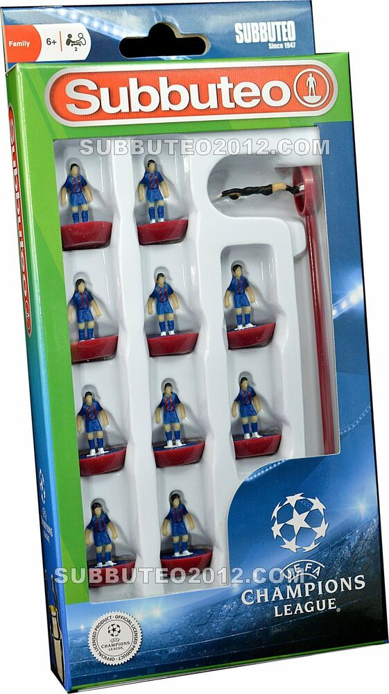 Barcelona new 2017 champions league subbuteo team football for Championship league table 99 00