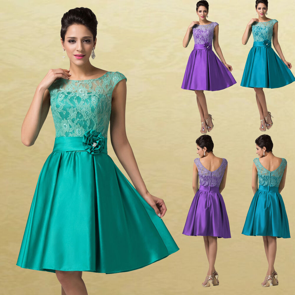 Wedding Dresses For Over 50s Uk: Vintage 50s Short Homecoming Evening Party Prom Bridesmaid