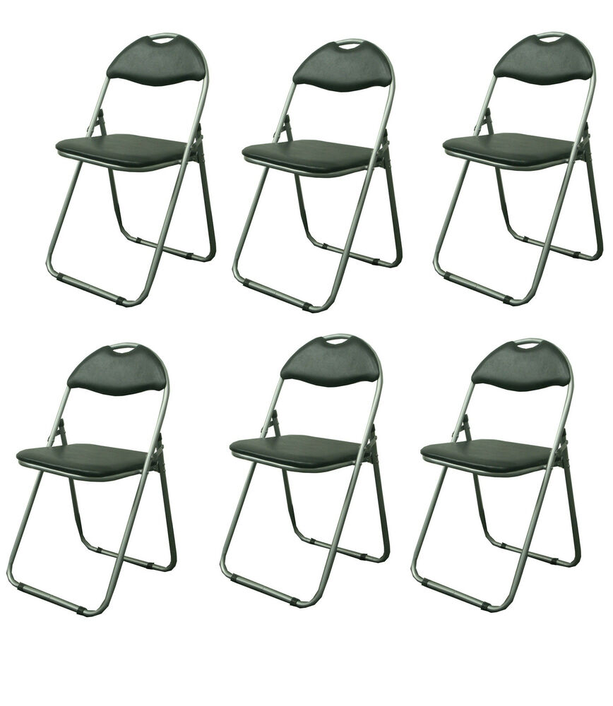 Folding Chair In Black Spare Chairs Guest EBay