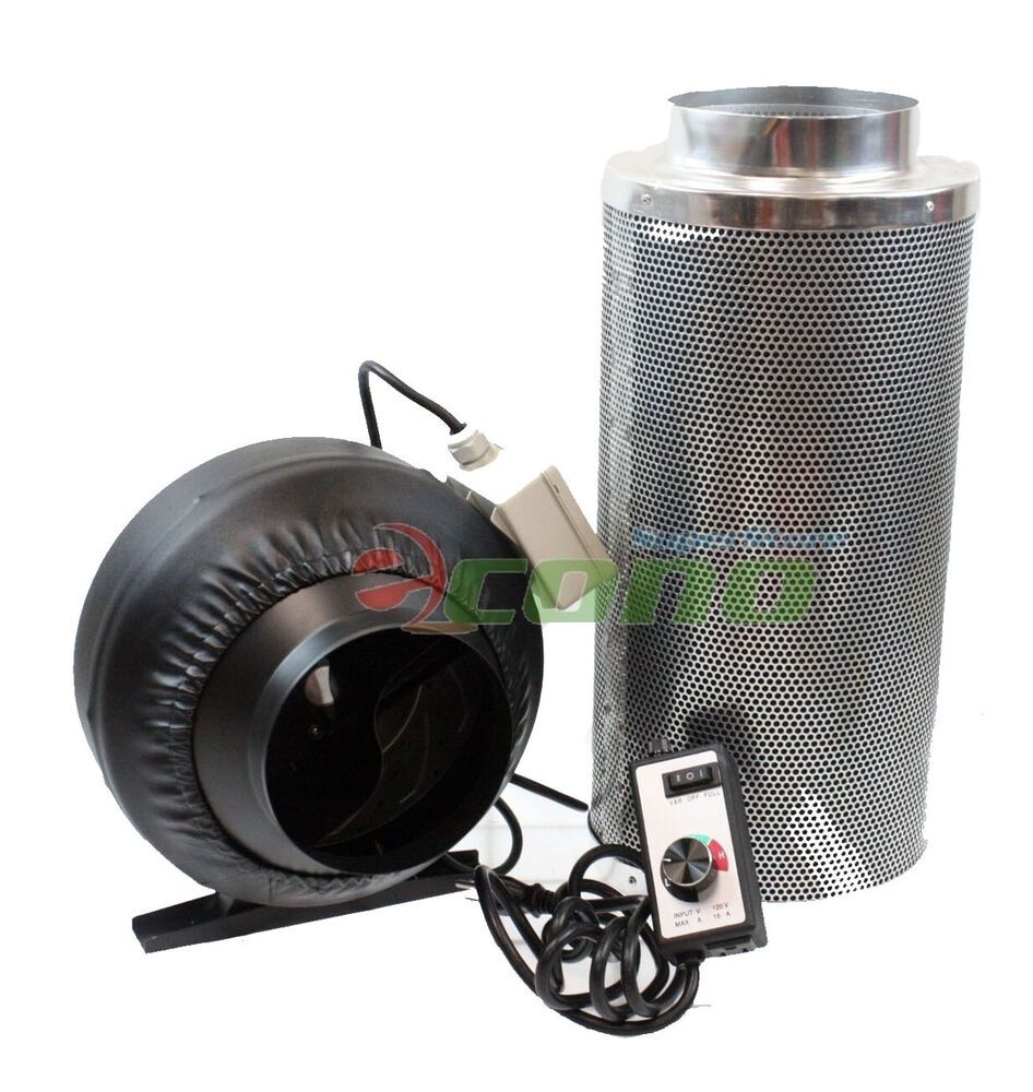 Air Filters For Blowers : Quot inline fan air blower speed controller hydroponic odor