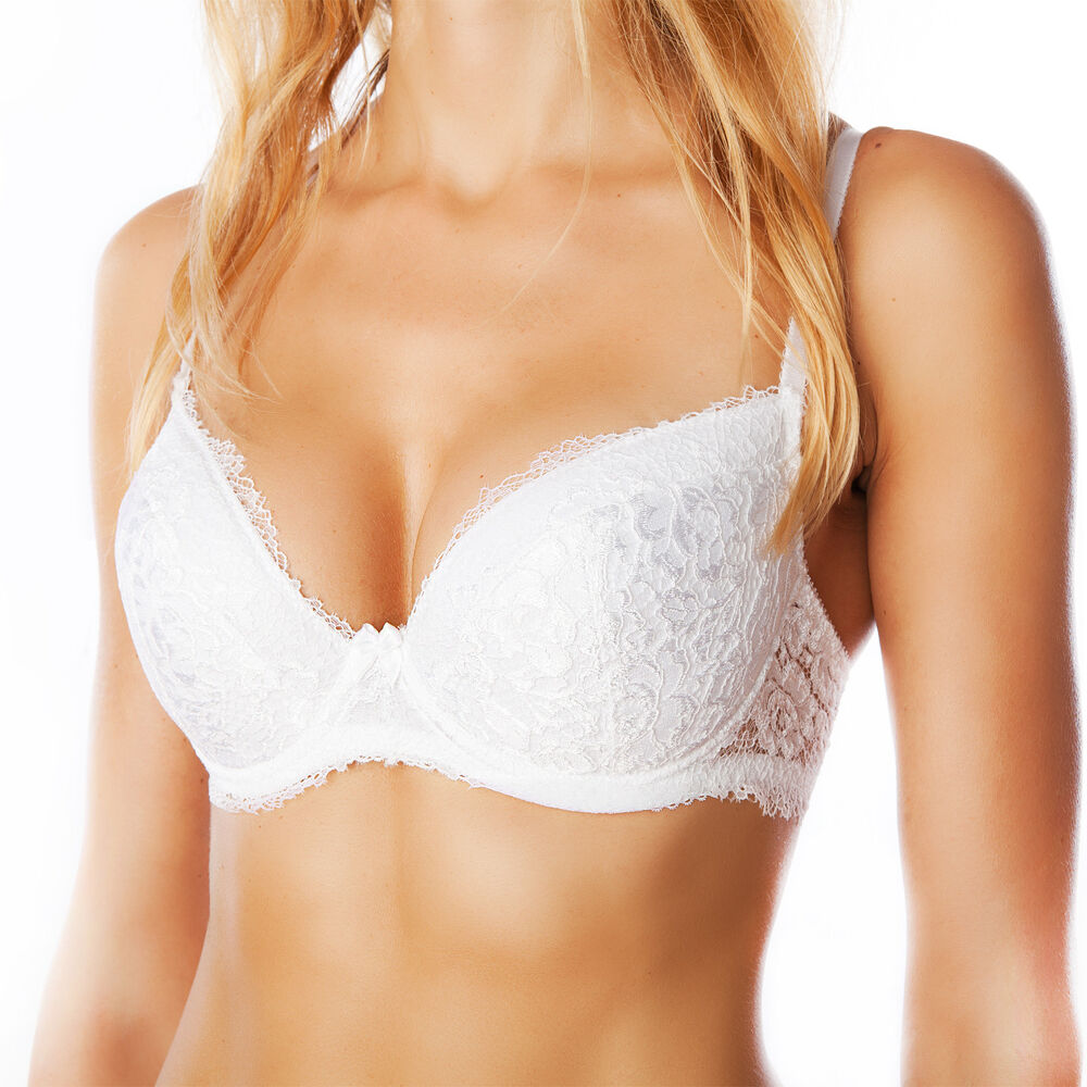 Bra by FV Lace T-Shirt Push-Up Underwire Lace Padded ...
