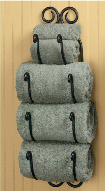 Park Designs Decorative Scroll Bath Towel Holder Black ...