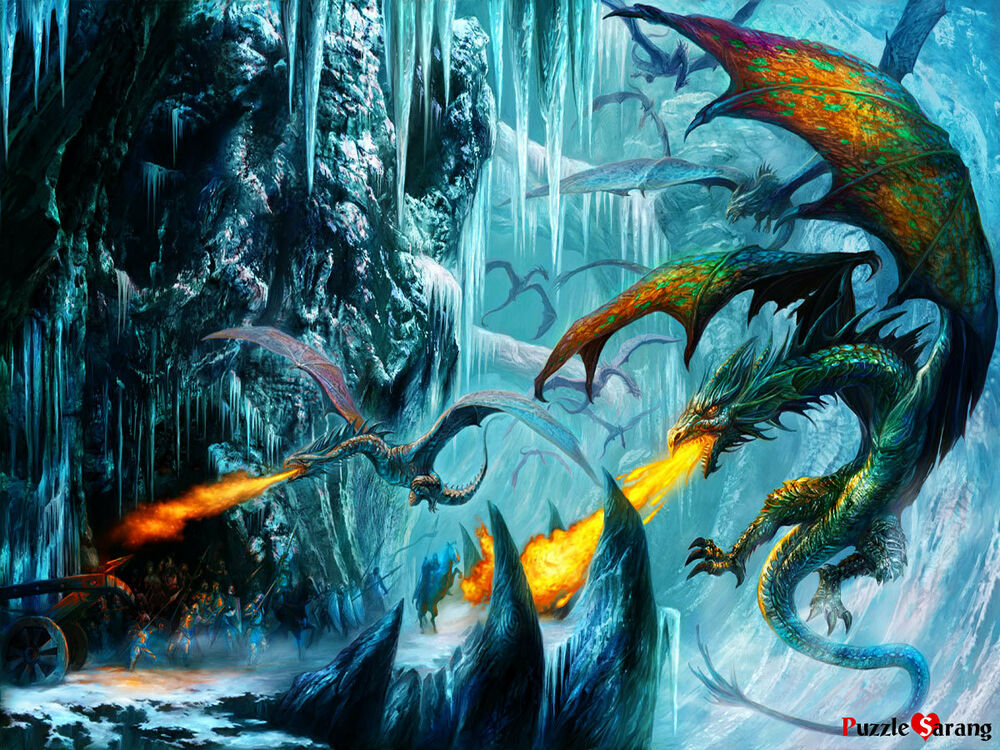 Glow Jigsaw Puzzle 1000 The Cave Dragon Chronicles By