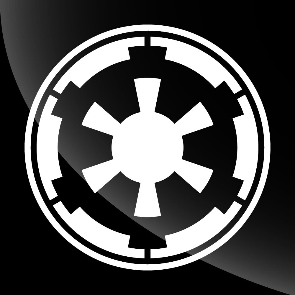 star wars galactic empire decal sticker tons of options. Black Bedroom Furniture Sets. Home Design Ideas