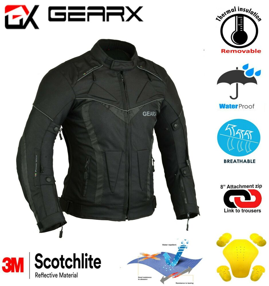 Aircon Motorbike Motorcycle Jacket Waterproof with Armours ...