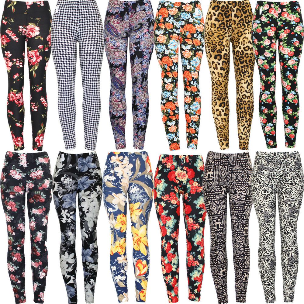 New Womens Ladies High Quality Stretchy Printed Leggings ...