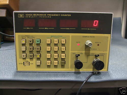 Hp Frequency Counter : Hp a microwave frequency counter ebay