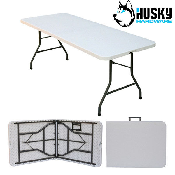 HUSKY Folding Plastic Table Banquet Trestle BBQ DIY Camping Picnic ...