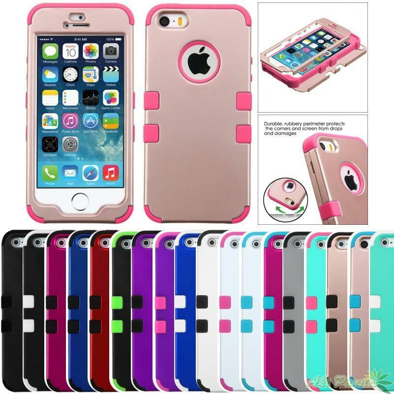 For Apple Iphone 5 5s Shockproof Protective Tuff Hybrid