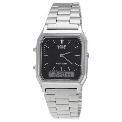 casio analog digital mens dual time aq 230 aq230a ebay