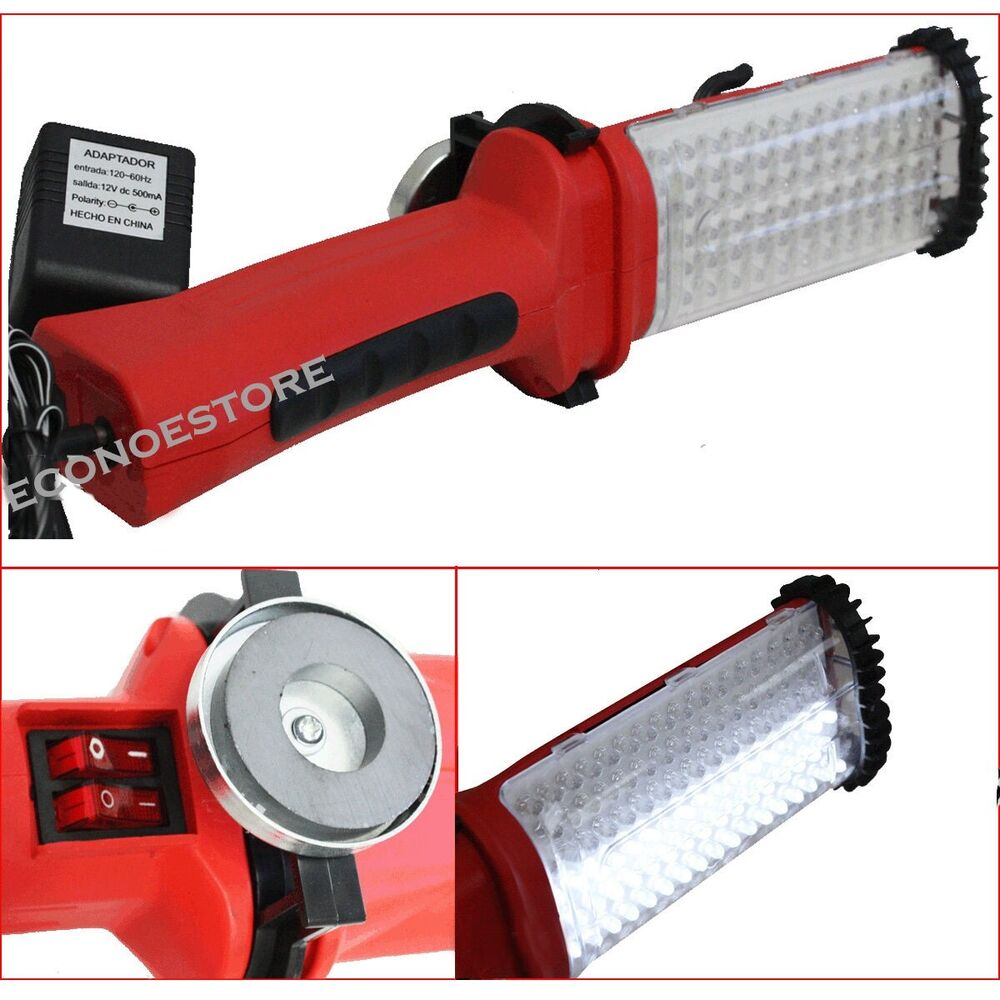 Cordless 84 White LED Worklight Rechargeable Bright