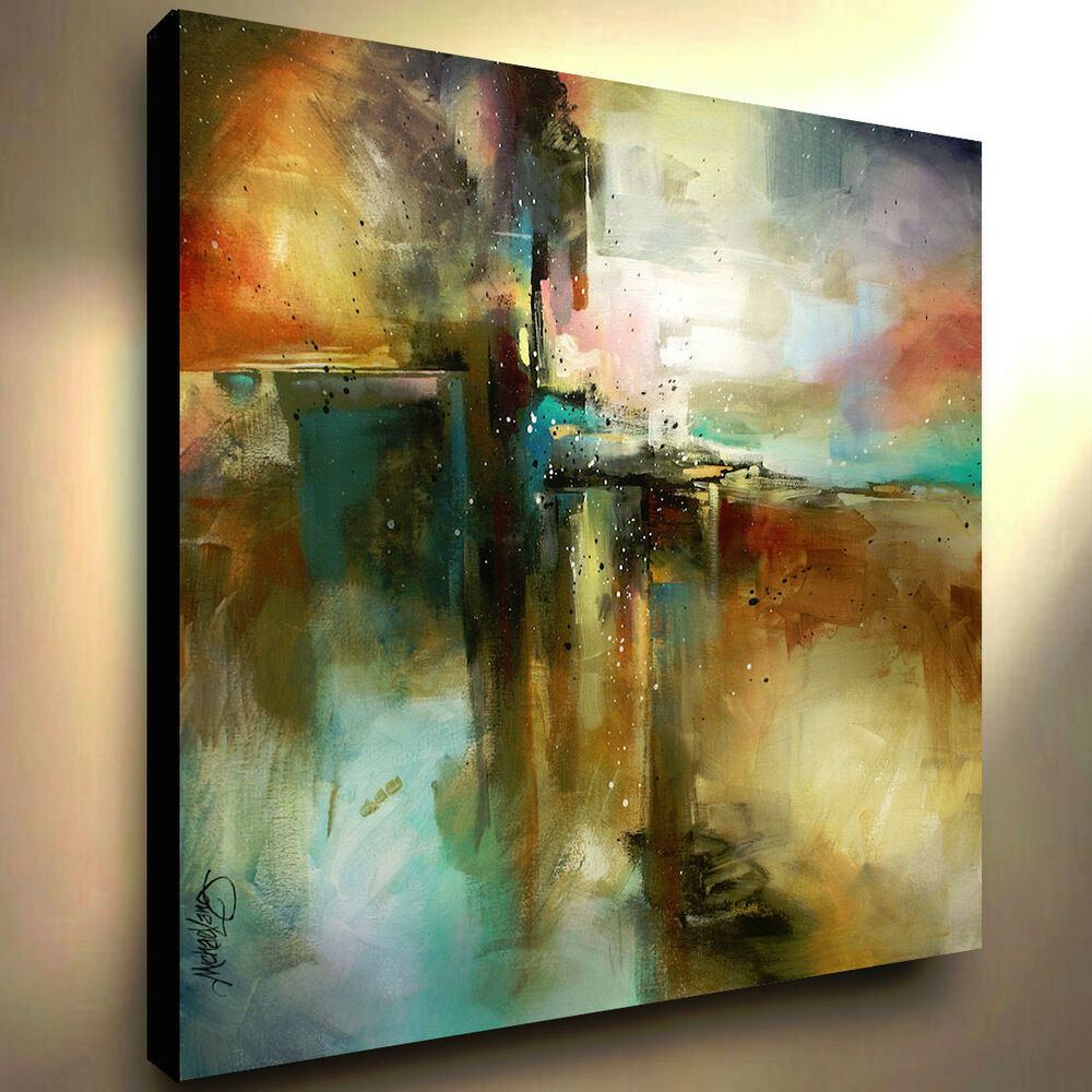 Large Abstract Art Giclee canvas print PAINTING ...