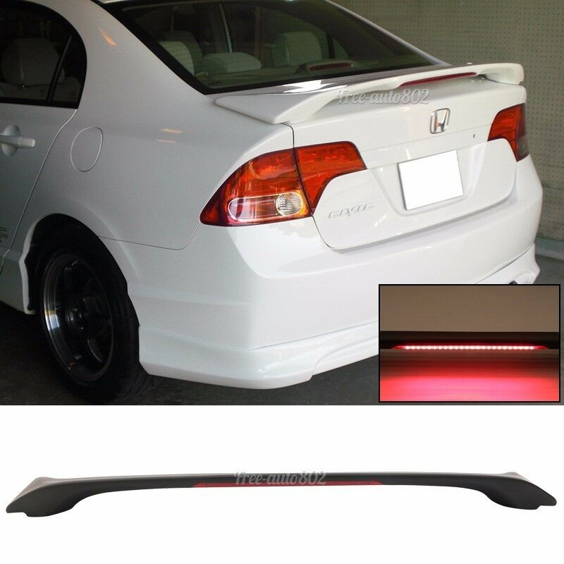 2006 Honda Accord Sedan >> Fit 2006-2011 HONDA CIVIC SEDAN OE TRUNK SPOILER WING ABS LED BRAKE LIGHT 4DR | eBay