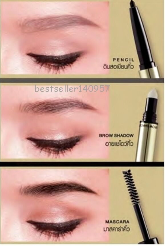 Mistine 3d Brows Secret Brow Set Eyebrow 3 In 1 Pencil Shadow