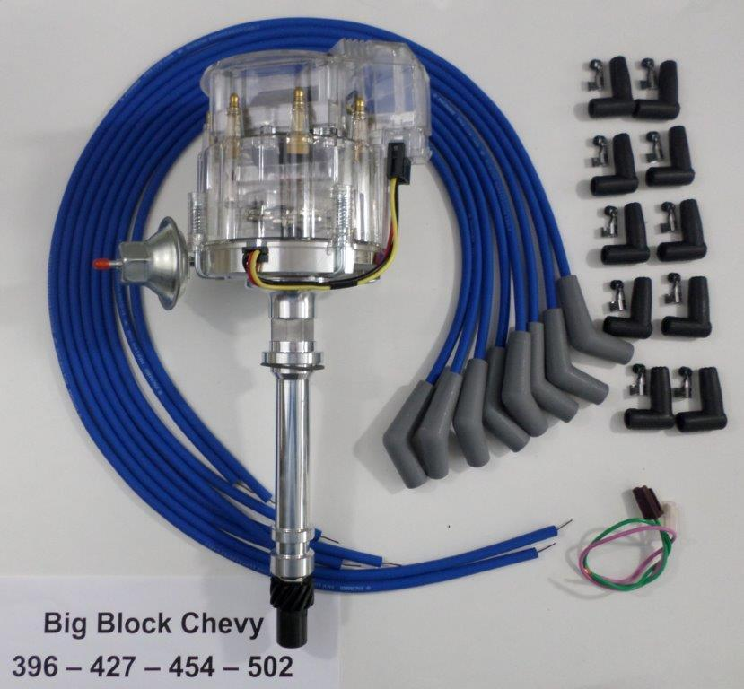 396 chevy with hei distributor wiring diagram bbc chevy 396-427-454 clear hei distributor & blue ... chevy 305 hei distributor wiring diagram #4